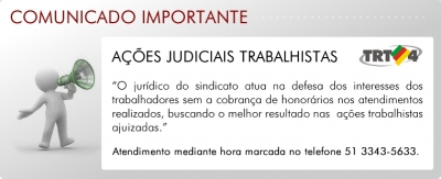 6 TRT Ações judiciais trabalhistas