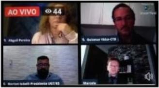 Em Live, lideranças debatem impacto das MPs nos direitos trabalhistas